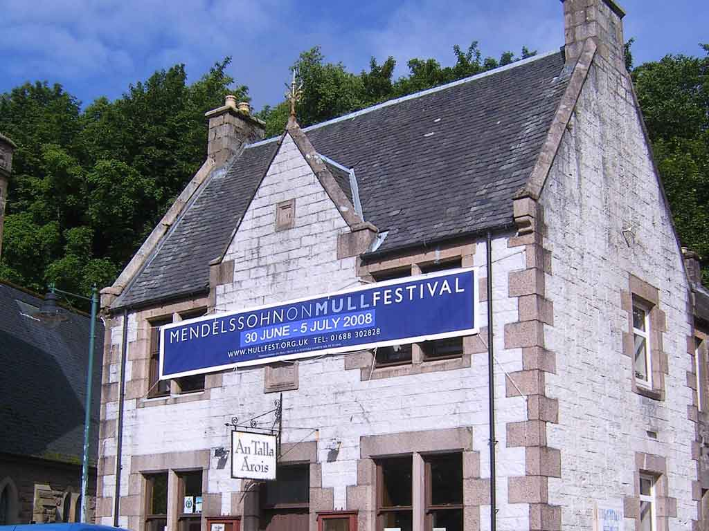 The Aros Hall in Tobermory, hub of each year's Mendelssohn on Mull Festival