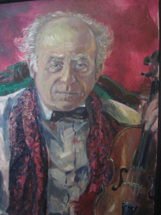 Leonard Friedman, oil painting by Ann L. Roe